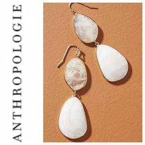 Anthropologie Luna double drop earrings